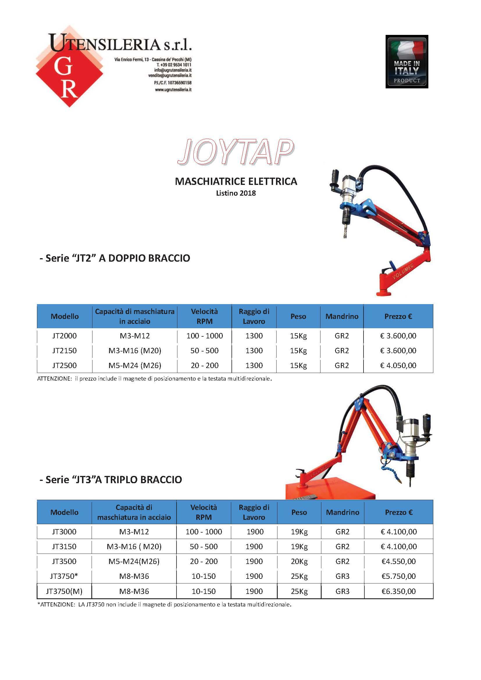 maschiatrice elettrica Joytap